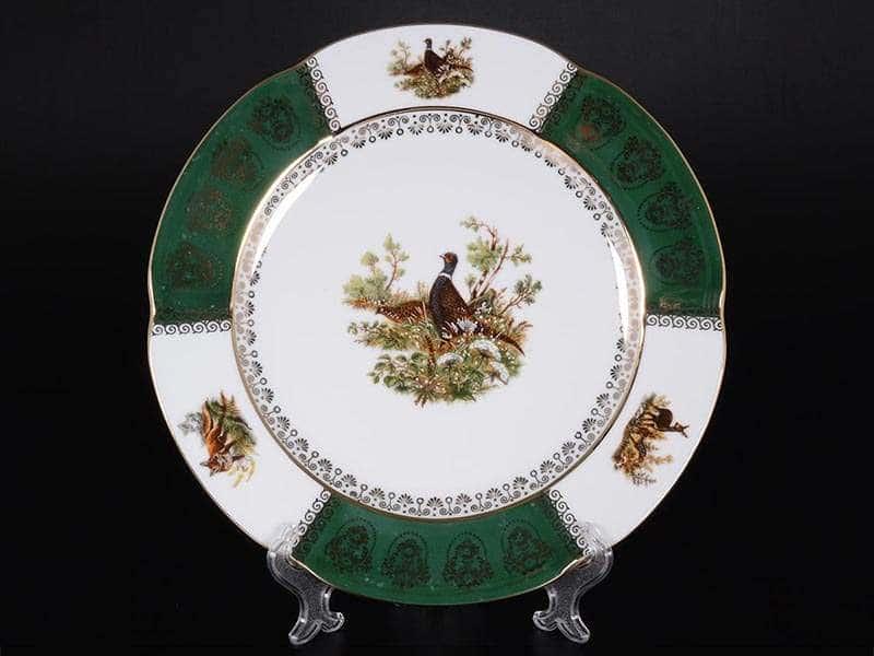 Болеро Охота Зеленая Набор тарелок Royal Porcelain 25 см