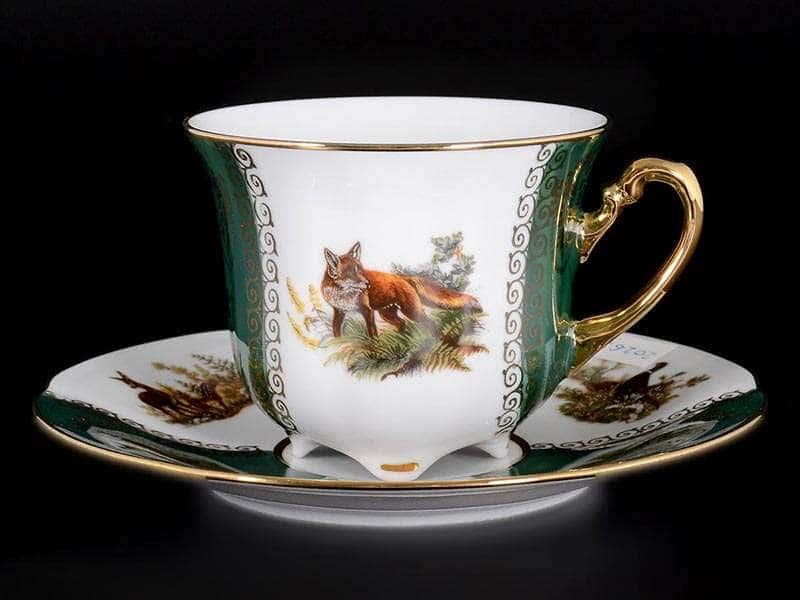 Болеро Охота Зеленая Набор чайных пар Carlsbad 250 мл