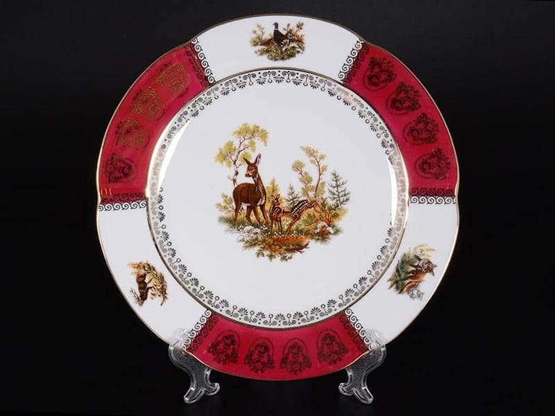 Болеро Охота Красная Набор тарелок Royal Porcelain 25 см