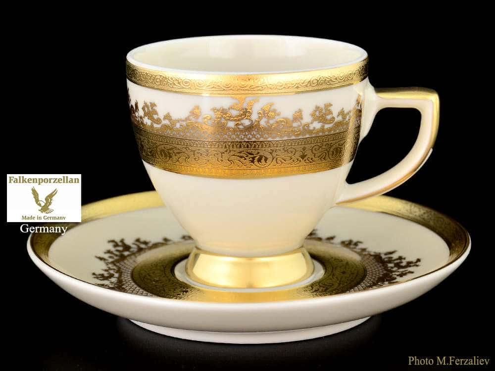 Crem Gold 9320 Набор кофейных пар 110 мл  Falkenporzellan
