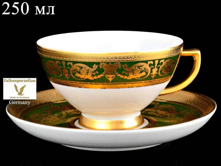 Imperial Green Gold Набор чайных пар Falkenporzellan 250 мл