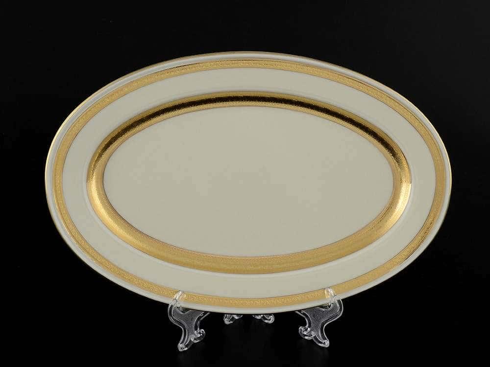 Crem Gold 9321 Блюдо овальное 24 см Falkenporzellan