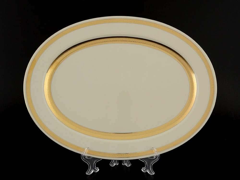 Crem Gold 9321 Блюдо овальное 35 см Falkenporzellan