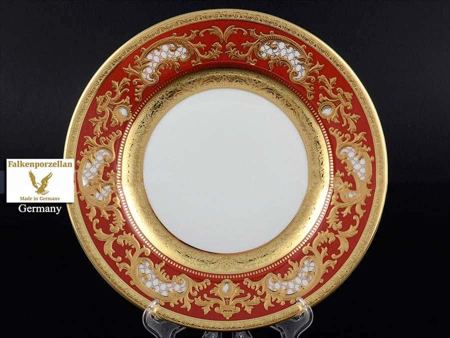 Alena 3D Bordeaux Gold Constanza Набор тарелок Falkenporzellan 21 см