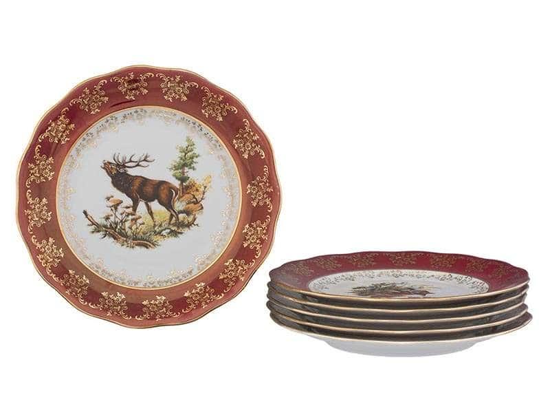 Царская Красная Охота Набор тарелок Royal Czech Porcelain 25 см