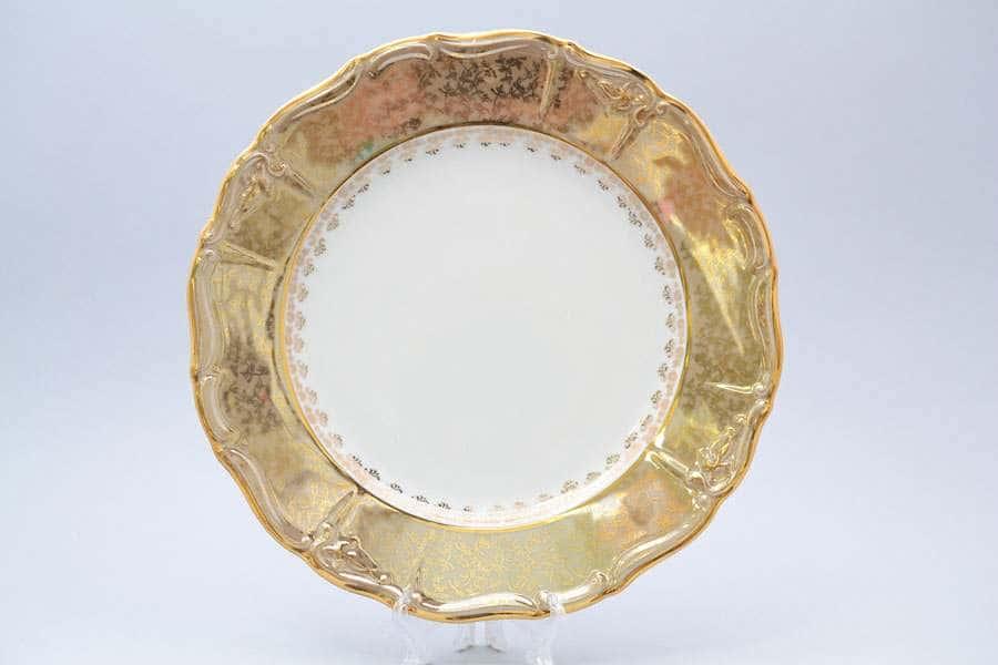 Мария Луиза Лист Бежевый Блюдо круглое 30 см Carlsbad