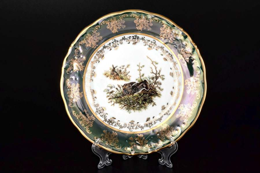 Фредерика Охота Зеленая Набор тарелок Carlsbad 19 см