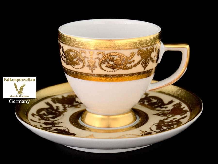 Imperial Crem Gold Набор кофейных пар 110 мл Falkenporzellan