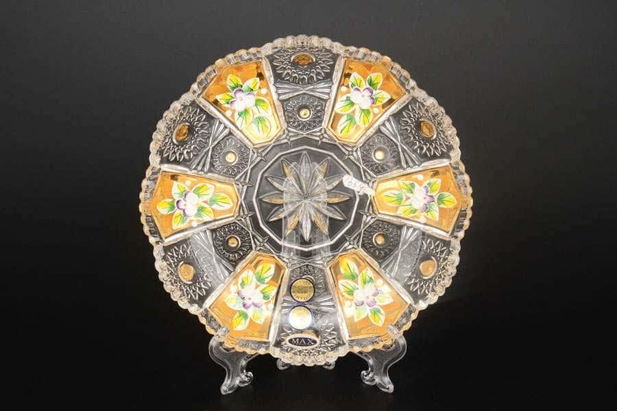 Max Crystal Золото Набор тарелок Bohemia 18 см