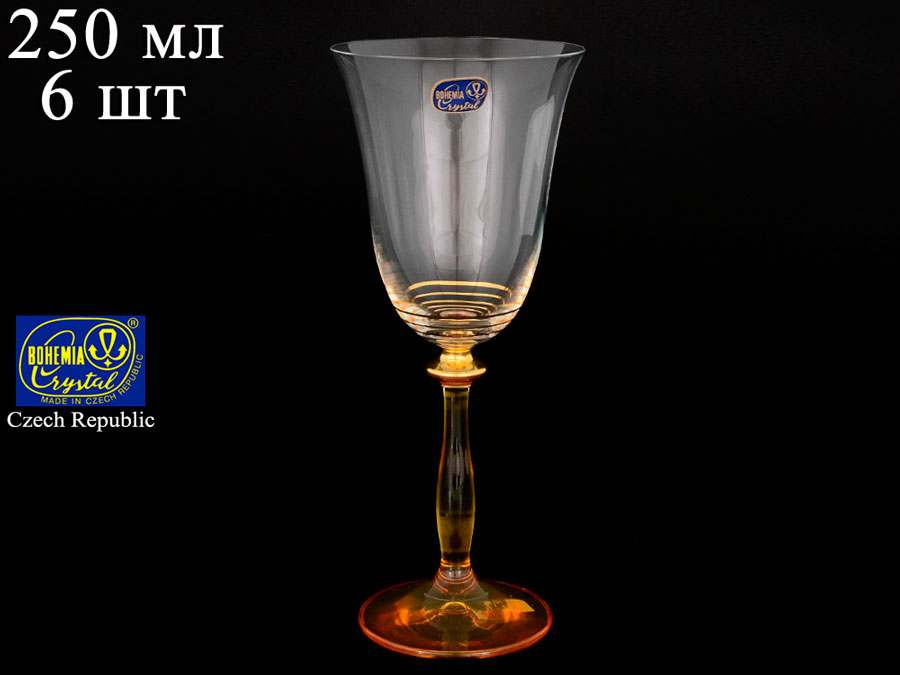 Анжела Набор бокалов для вина 250 мл Bohemia Crystal