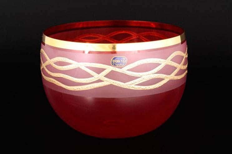 Эксклюзив Салатник Bohemia Crystal 20 см красный