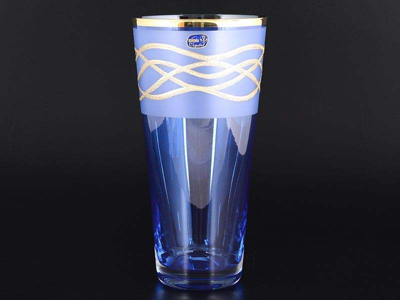 Эксклюзив Ваза 25 см синяя Bohemia Crystal