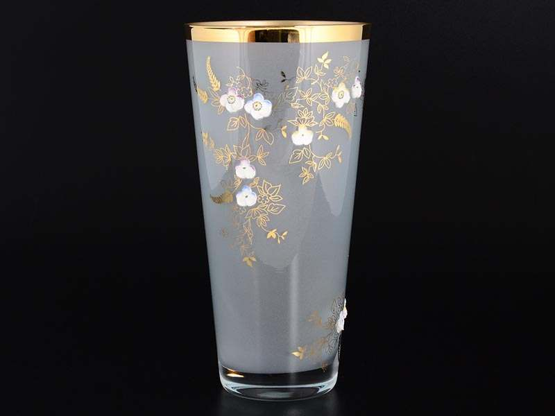 Эксклюзив Ваза 25 см Голубая матовая Bohemia Crystal