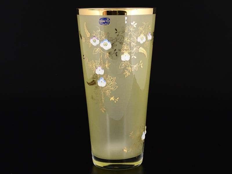 Эксклюзив Ваза 25 см Желтая матовая Bohemia Crystal