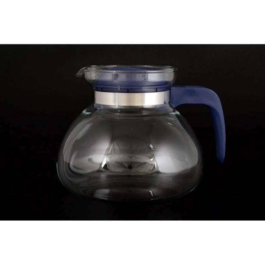 Симакс Чайник из жаропрочного стекла 1,7 л с синей ручкой