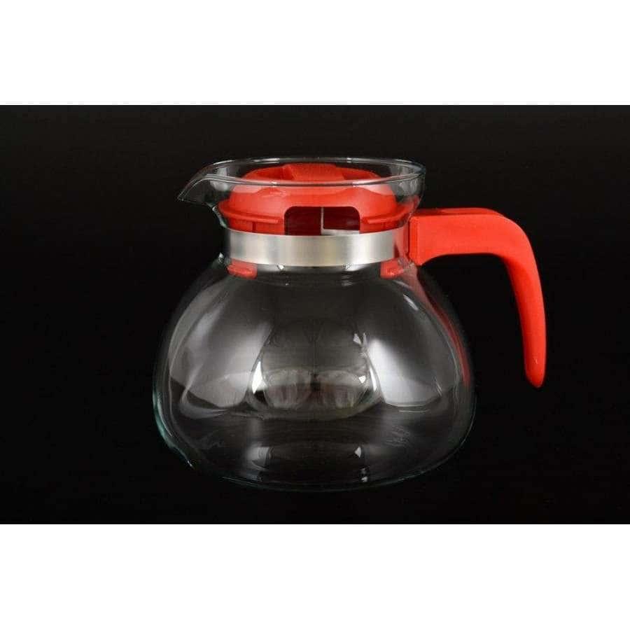 Симакс Чайник из жаропрочного стекла 1,7 л с красной ручкой