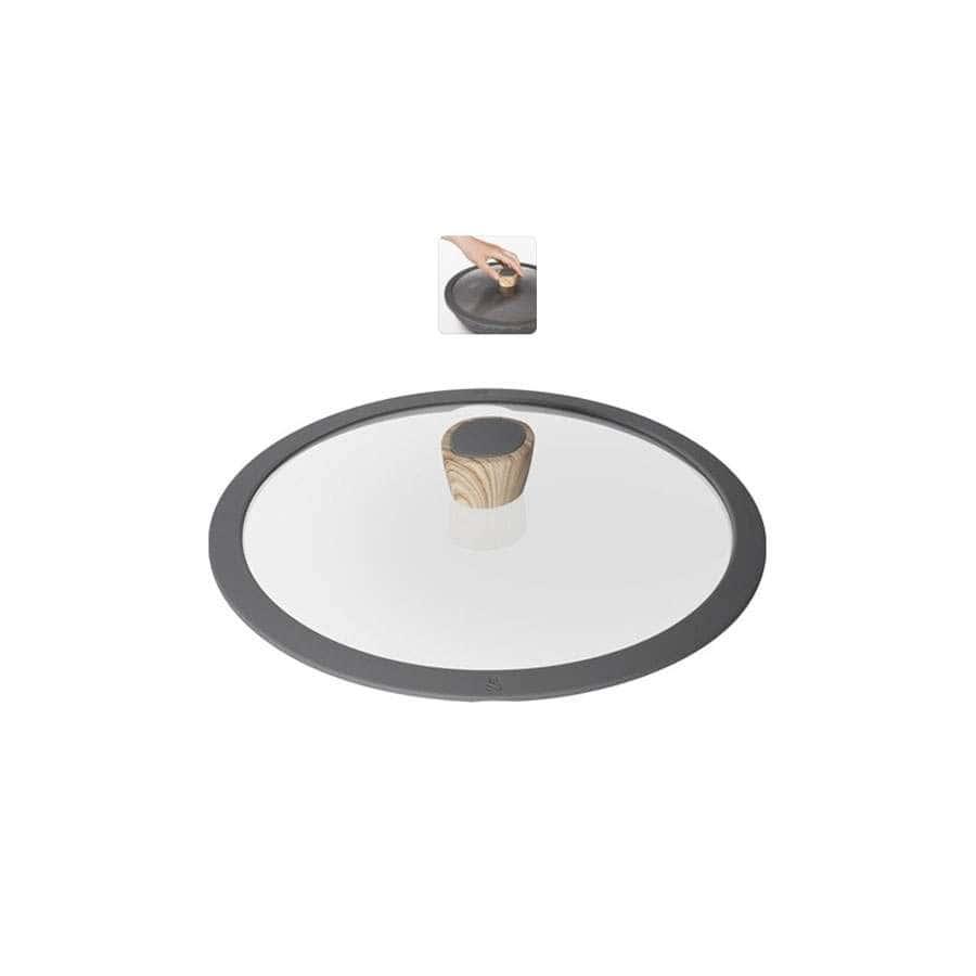 Mineralica Стеклянная крышка с силиконовым ободом 28 см Nadoba