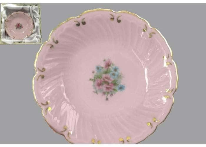 Соната, Розовые цветы, Розовый фарфор, Тарелка глубокая 8 см