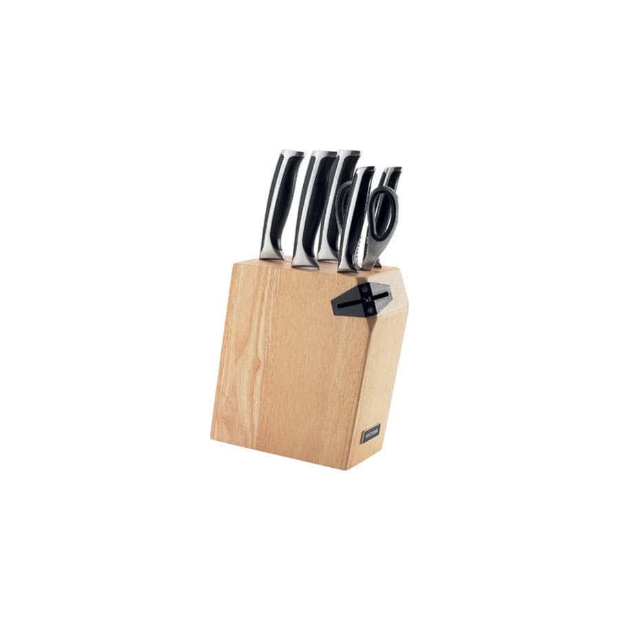 Ursa Набор из 5 кухонных ножей ножниц и блока для ножей с ножеточкой Nadoba