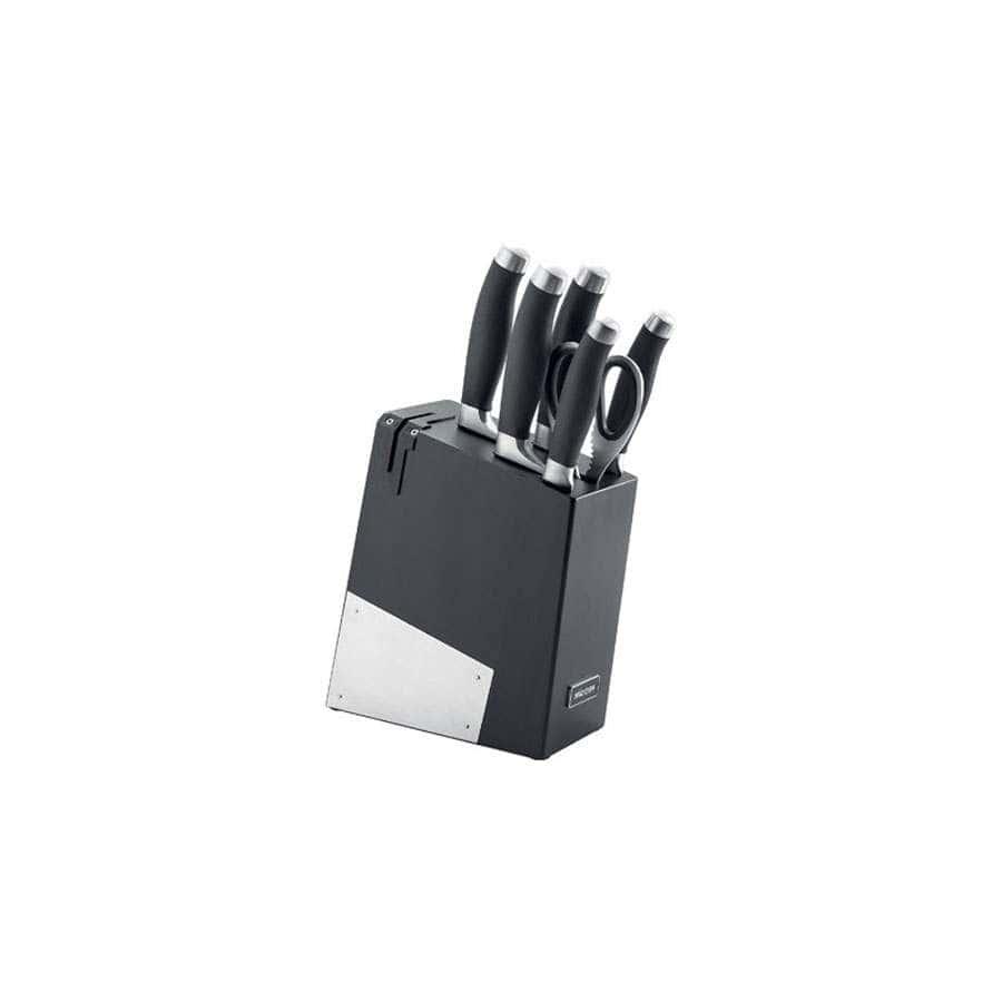 Rut Набор из 5 кухонных ножей ножниц и блока для ножей с ножеточкой Nadoba