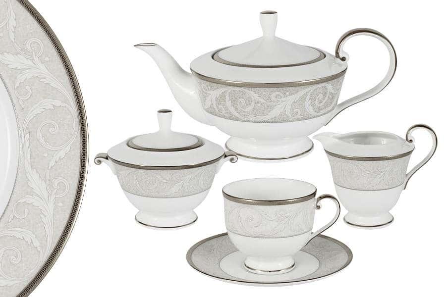 Чайный сервиз из 17 предметов на 6 персон Ноктюрн  Narumi  Индонезия