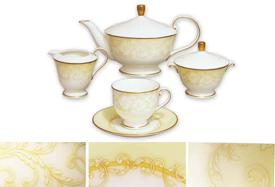 Чайный сервиз 17 предметов на 6 персон Версаль Narumi  Индонезия