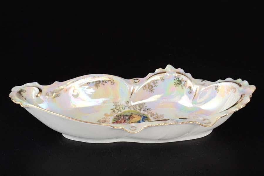 Мадонна перламутр Корона Салатник из фарфора QC 27 см