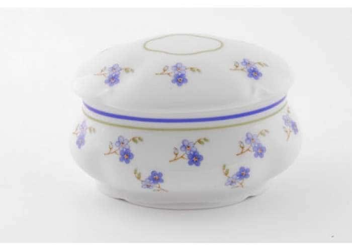 Мэри-Энн, Синие цветы, Шкатулка овальная 11 см, Леандер