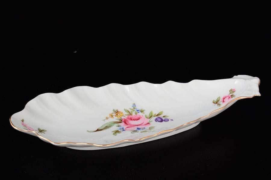 Полевой цветок Корона Селедочница QC 20 см фарфоровая