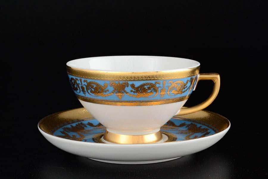 Imperial Blue Gold Набор чайных пар FalkenPorzellan 250 мл
