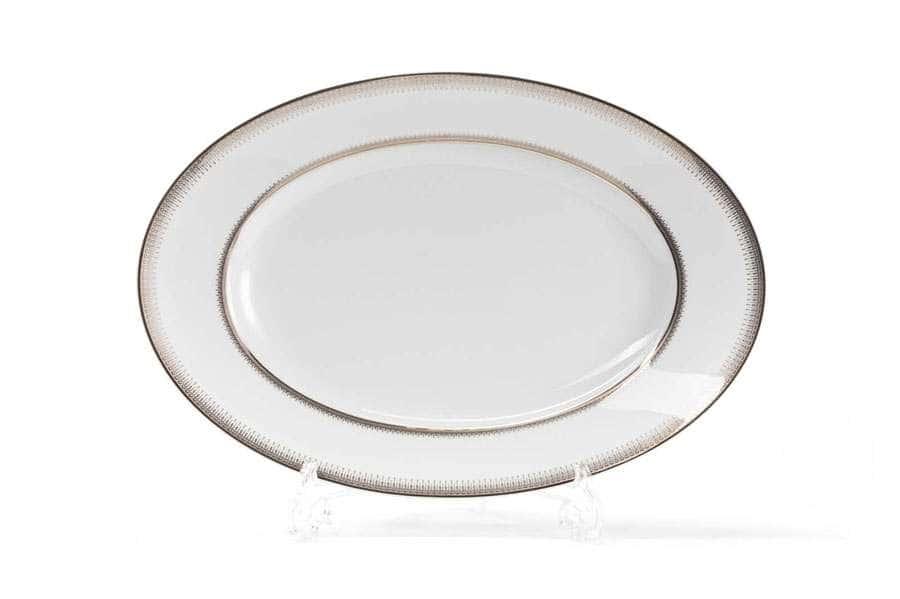 Блюдо овальное 35 х 23,9 см PRINCIER PLATINE 1801 Тунис