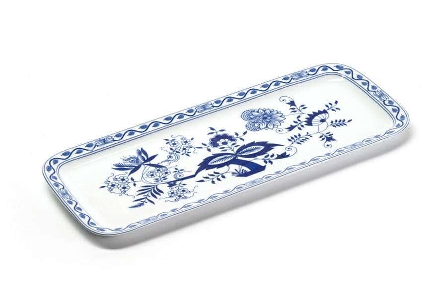 Блюдо для кекса прямоугольное 37,7 х 15,5 см Ognion Bleu 1313 Тунис