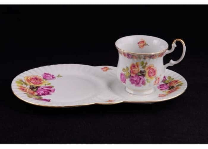 Моника, Розы, Чайный сервиз для завтрака 2 пред