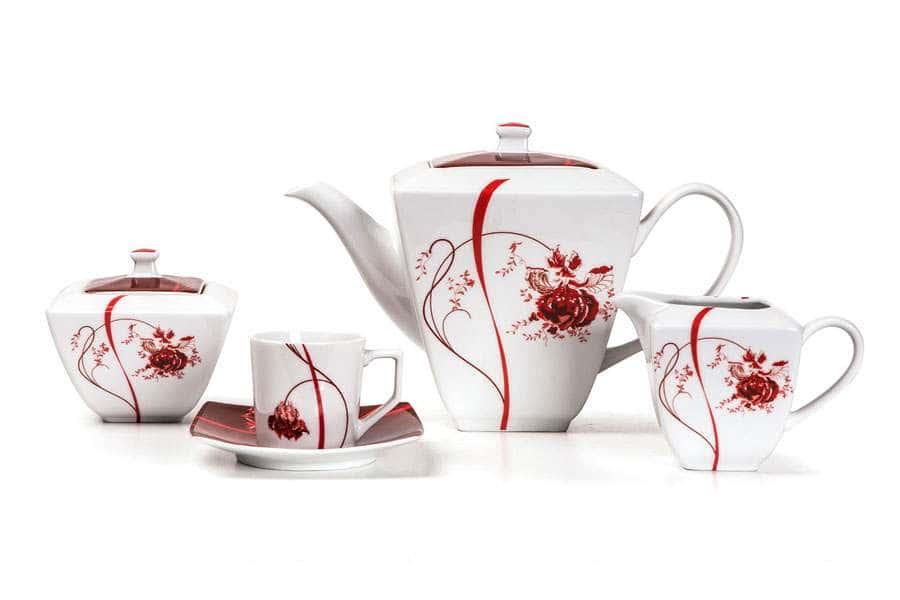 KYOTO Сервиз кофейный 15 предмета Noblesse Roug Тунис