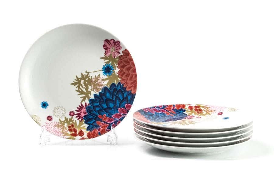 MIMOSA Набор плоских тарелок 27 см  6шт Ilionor 2227 Тунис