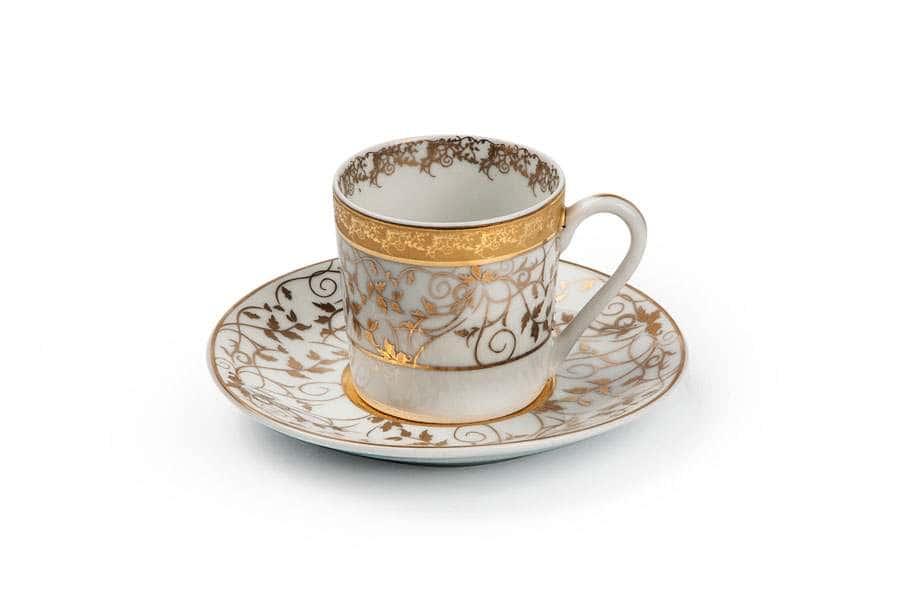 MIMOSA Lierre Or 947 Набор Кофейных Пар 6 шт Тунис