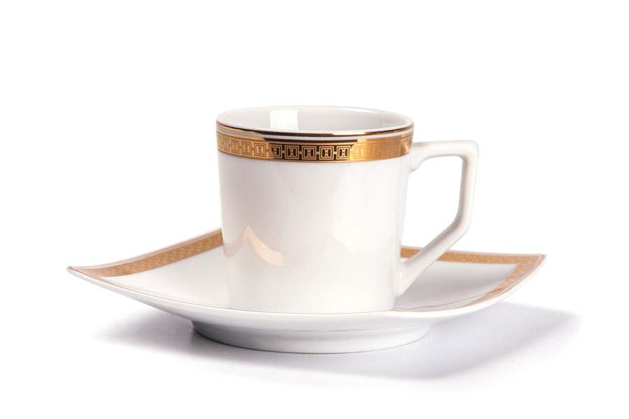 KYOTO 1555 Набор кофейных пар 12 предмет Saint Germain Or Тунис