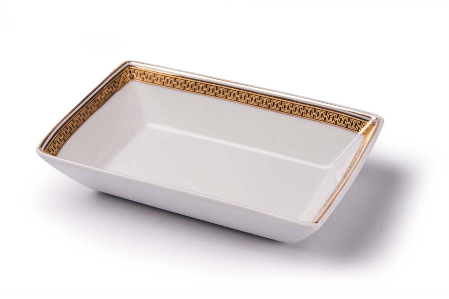 KYOTO 1555 Блюдо прямоугольное  Д 13х 9 золото Saint Germain Or Тунис