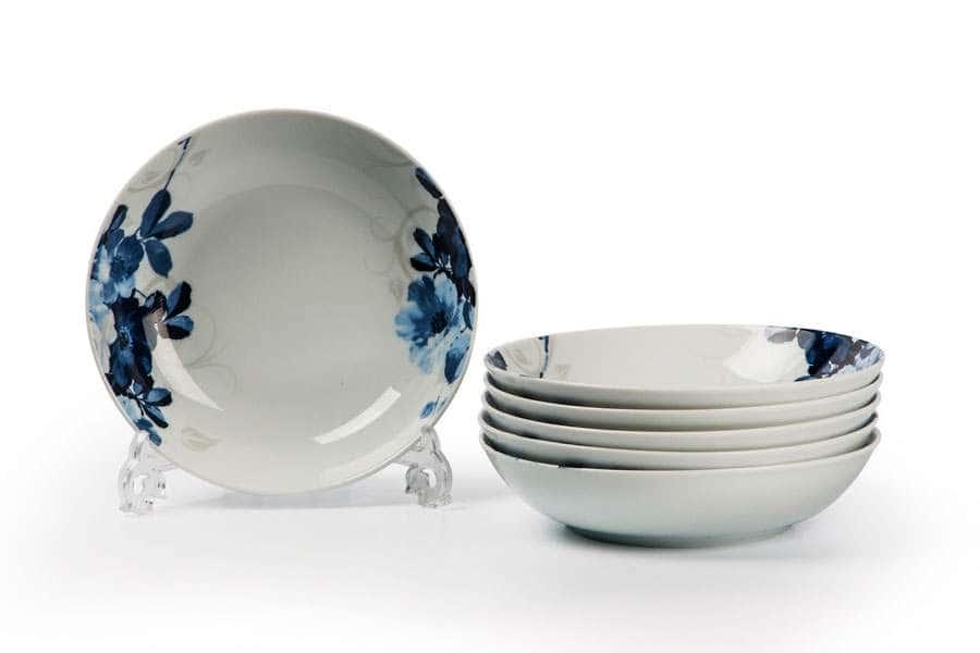MONALISA 1780 Набор глубоких тарелок 6 шт Jardin Bleu Тунис
