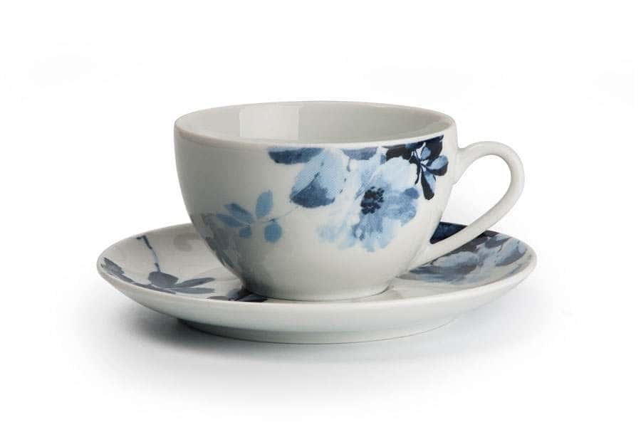 MONALISA 1780 Набор Чайных Пар 210 мл 6 шт Jardin Bleu Тунис