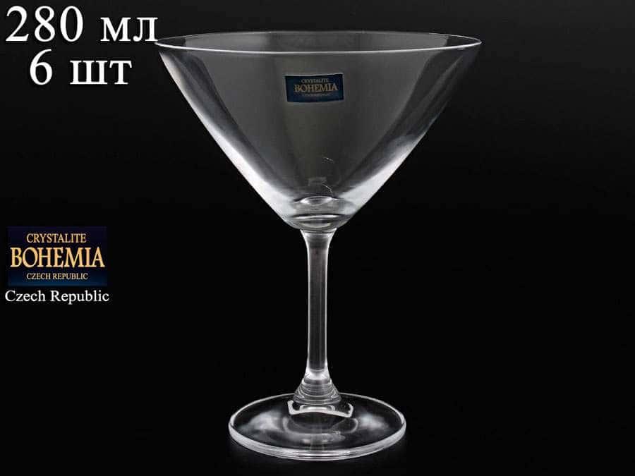 KLARA Набор креманок для мартини Crystalite Bohemia 280 мл 19096