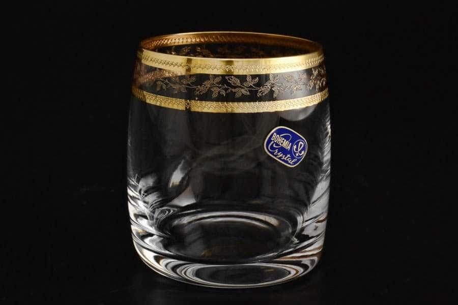 Идеал Золотой лист V-D  Набор стаканов для виски 290 мл