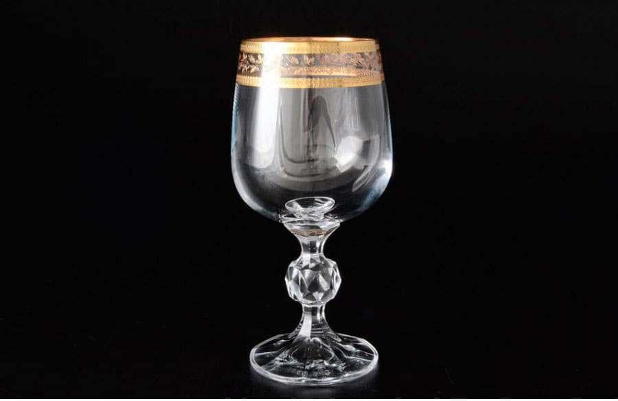 Клаудия Золотой лист V-D Набор бокалов для вина 230 мл