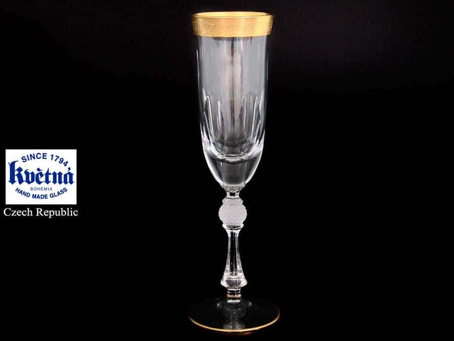 Джесси Кристалайт Набор фужеров для шампанского Kvetna 200 мл Чехия