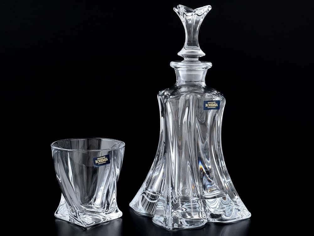 FLORALE Набор для виски Crystalite Bohemia 5 предметов