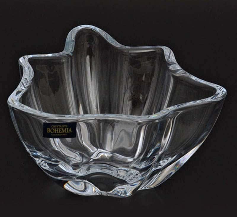 VULCANO Салатник Crystalite Bohemia 16 см из стекла