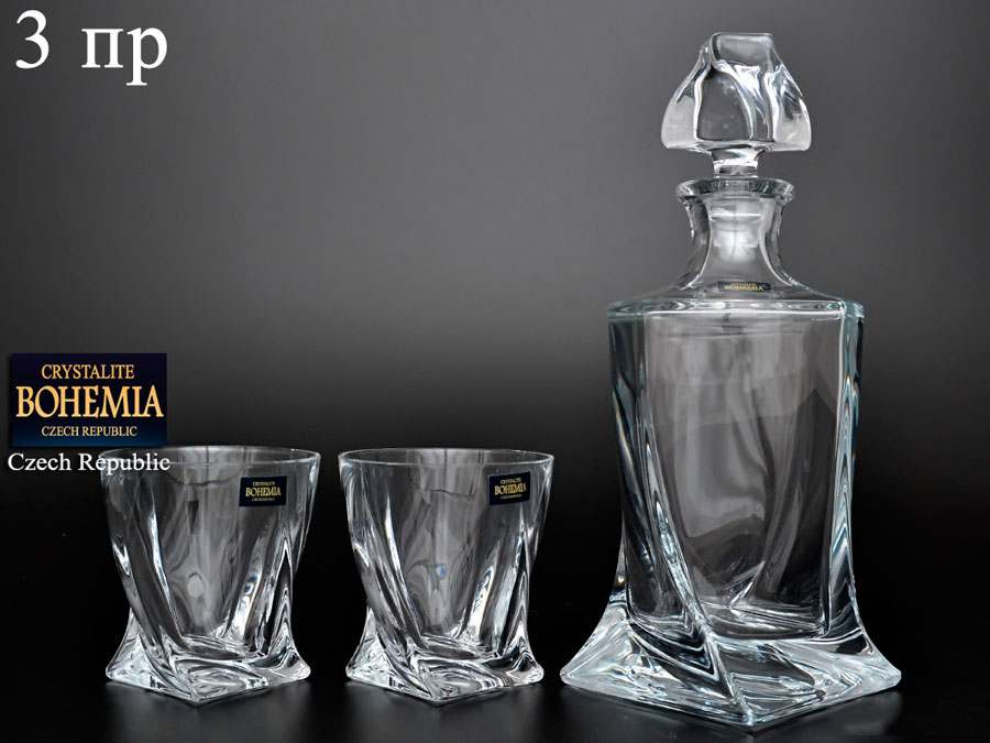 Quadro Набор для виски Crystalite Bohemia 3 предмета