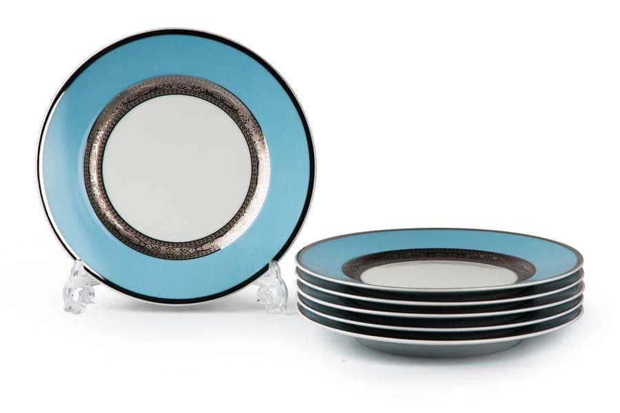 MIMOSA 1626 Набор Тарелок 22 см 6 шт Monaco Bleu Turquoise Тунис