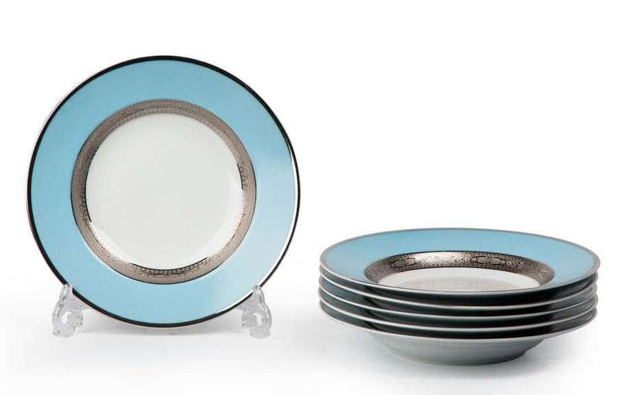MIMOSA 1626 Набор Глубоких Тарелок 27 см 6 шт Monaco Bleu Turquoise Тунис