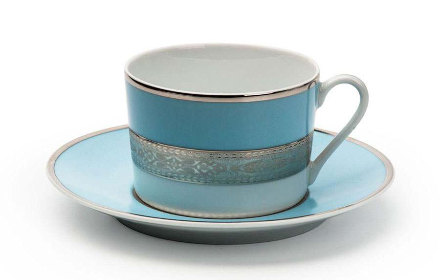 MIMOSA 1626 Набор чайных пар 220 мл 12 предмета Monaco Bleu Turquoise Тунис